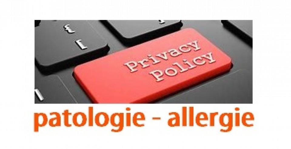 Informativa sulla privacy per patologie e allergie